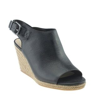 Via Spiga V-ingrid Black Wedgesx Size 7 168136